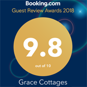 Booking.com Guest Review Award for Grace Cottages